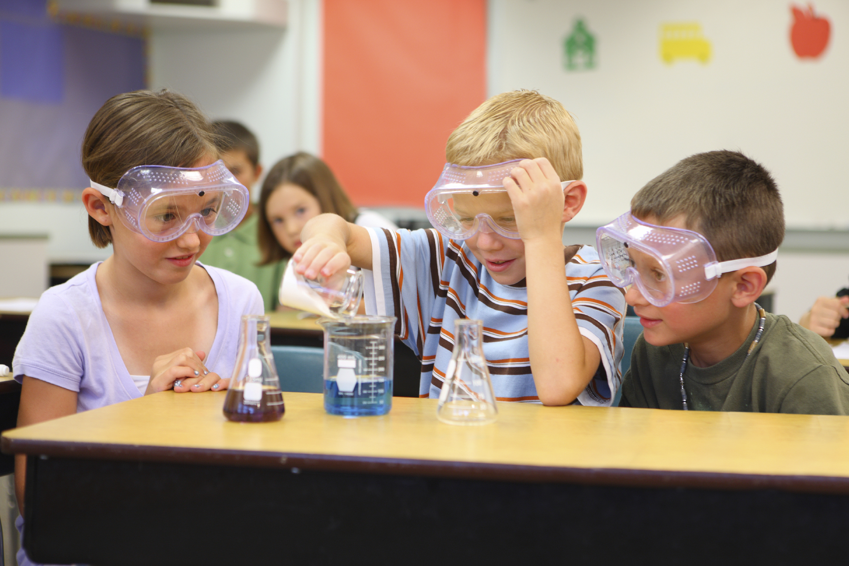 Children Experimenting with Salts