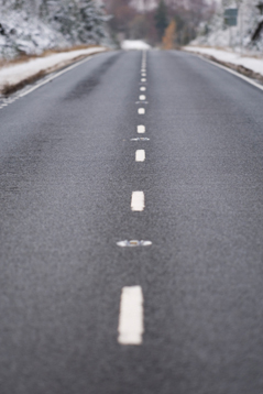 Winter Road Clear of Snow